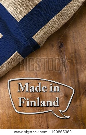 Poster made in Finland is made with the national flag of the country.