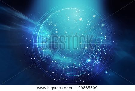 Astrology And Alchemy Sign Background Illustration