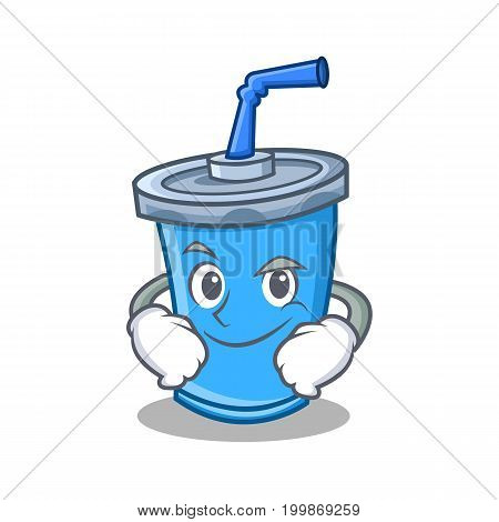 Smirking soda drink character cartoon vector illustration