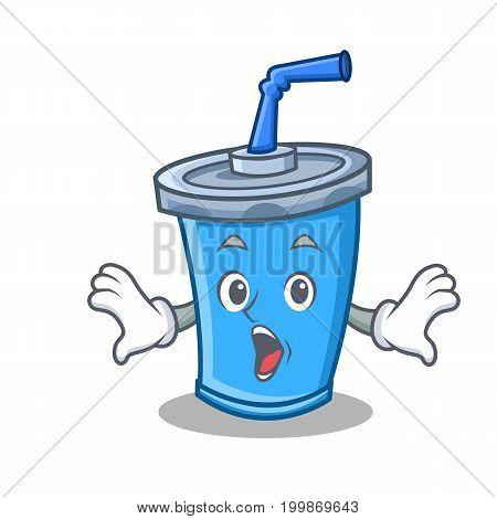 Surprised soda drink character cartoon vector illustration