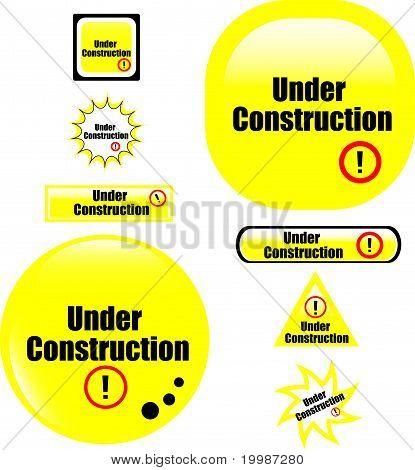 button under construction website icon