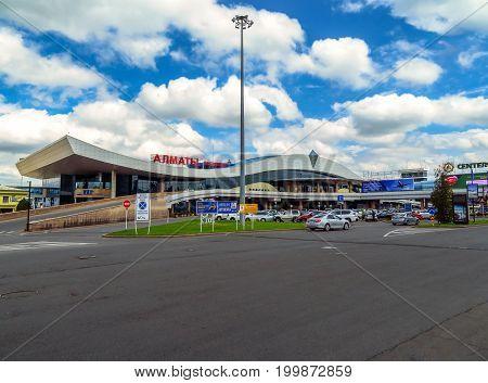 Almaty Kazakhstan - June 11 2017: Airport of Almaty is the largest international airport in Kazakhstan.
