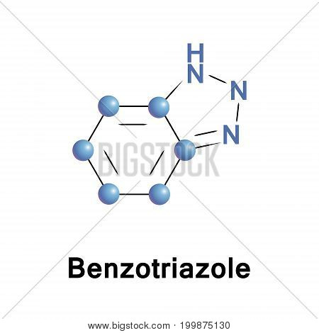 Benzotriazole is a heterocyclic compound containing three nitrogen atoms, with the chemical formula C6H5N3. This aromatic compound is colorless and polar