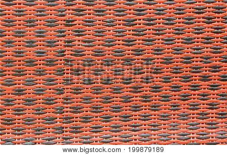 red with black plastic mat texture and background