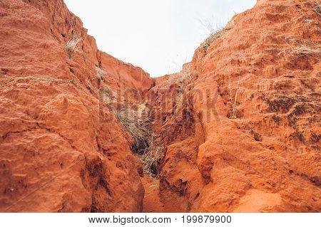 red canyon near Mui Ne southern Vietnam.