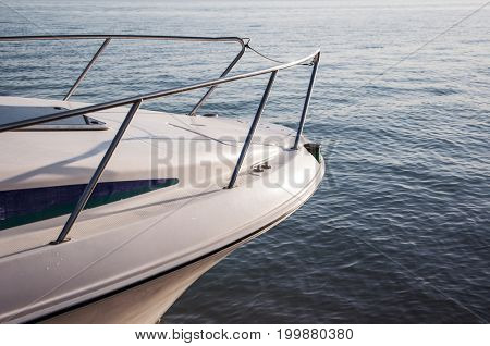 View of the ocean from a yacht