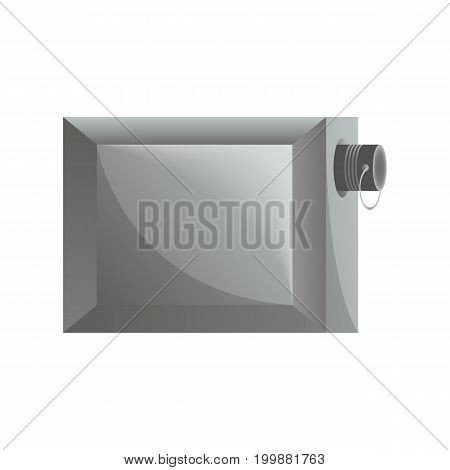 Garage lock icon in flat design. Security protection, key safety element, blocking sign for mobile application isolated on white background vector illustration.