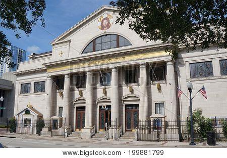 St. George Antiochian Orthodox Church, or Orlando Florida Downtown Orlando, Florida, United States, April 26, 2017.