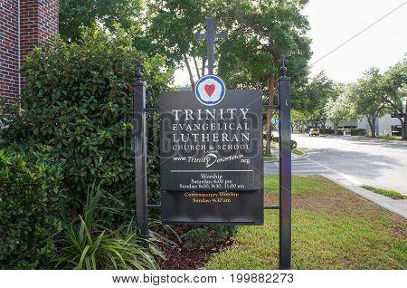 Trinity Evangelical Lutheran Church & School Signage, April 26, 2917