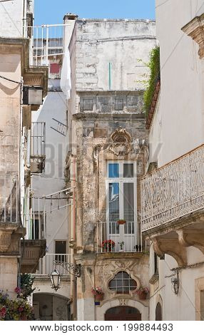 Alleyway of Martina Franca. Puglia. Southern Italy.