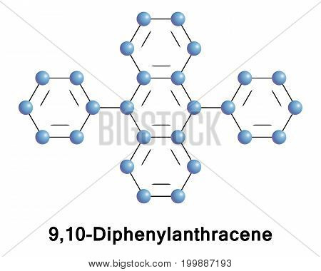 9,10-Diphenylanthracene is a polycyclic aromatic hydrocarbon. It is used as a sensitiser in chemiluminescence. In lightsticks it is used to produce blue light.