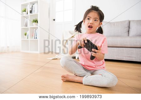 Little Girl Kid Children Sitting On Living Room