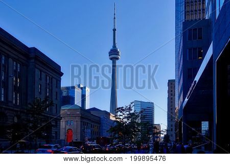 Toronto, Canada, 2017.06.07: The CN tower in Toronto, Canada