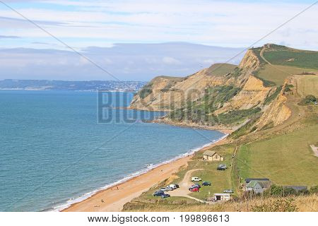 cliffs of the Jurassic coast at Eype, Dorset