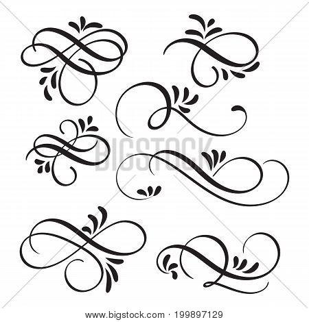 art calligraphy flourish of vintage decorative whorls for design. Vector illustration EPS10.