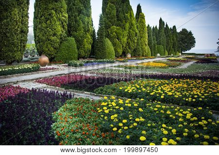 Botanical garden at Balchik Palace in Bulgaria