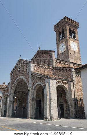 Rivolta d'Adda (Cremona Lombardy Italy): exterior of San Sigismondo church built from 11th century