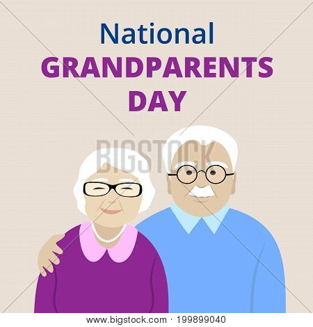 National Grandparents Day card with senior couple