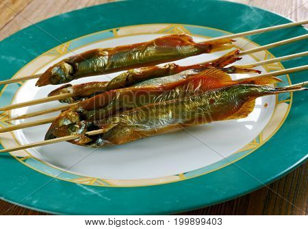 Grilled Fish On A Stick