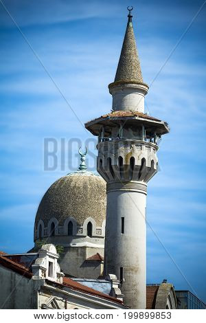Constanta city centre mosque on Black Sea coast of Romania
