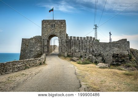 Castle entrance on the Kaliakra peninsular in northern Bulgaria