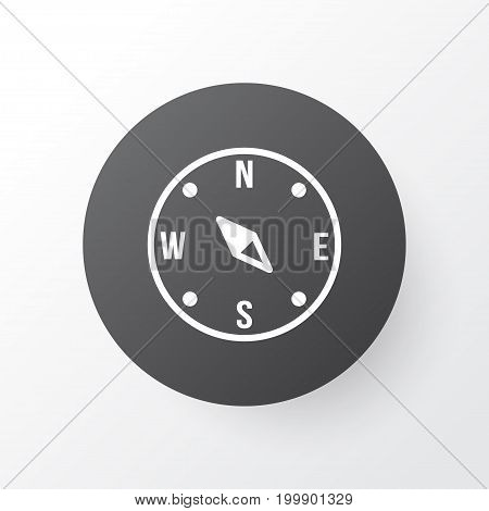 Premium Quality Isolated Locate Element In Trendy Style.  Compass Icon Symbol.