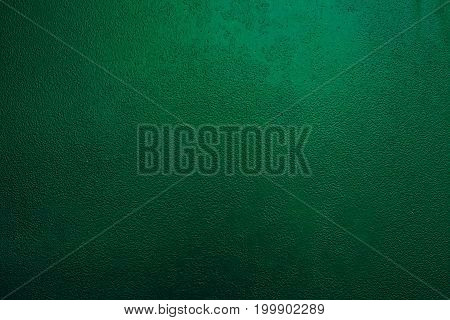 Background of a painted green iron metal sheet iron texture