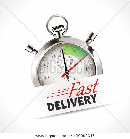 Stopwatch - Fast delivery - stock illustration