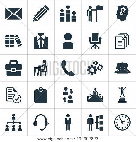 Elements Book, Group, Watch And Other Synonyms Document, Structure And Mechanism.  Vector Illustration Set Of Simple Human Icons.