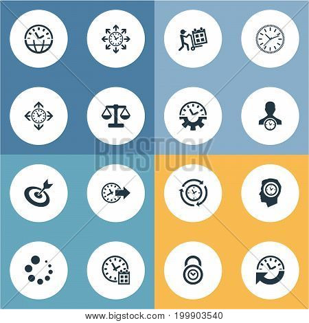 Elements Redirect, Delivery, Interval And Other Synonyms Coordination, Redirect And Calendar.  Vector Illustration Set Of Simple Administration Icons.