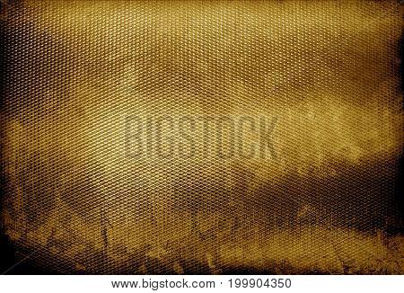grunge golden mesh background