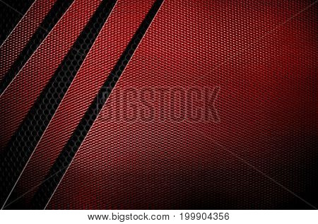 red metal mesh design background