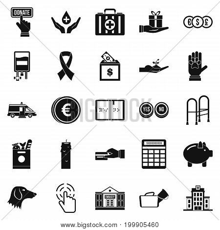 Investment icons set. Simple set of 25 investment vector icons for web isolated on white background