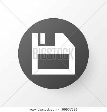 Premium Quality Isolated Floppy Disk Element In Trendy Style.  Diskette Icon Symbol.