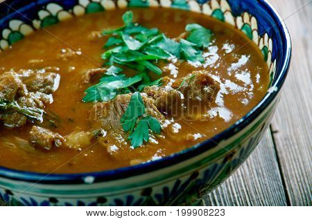 Rara Gosht Roasted Mutton Curry. Pakistani cuisine