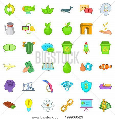 Eco care icons set. Cartoon style of 36 eco care vector icons for web isolated on white background