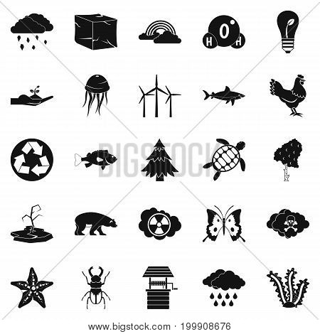 Terra icons set. Simple set of 25 terra vector icons for web isolated on white background