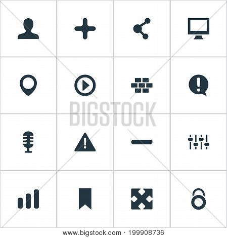 Elements Remove, Navigation, Constructing And Other Synonyms Engine, Delete And Navigation.  Vector Illustration Set Of Simple UI Icons.