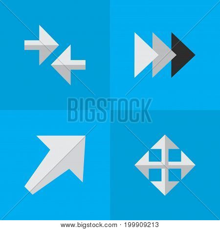 Elements Southwestward, Export, Widen And Other Synonyms Forward, Resize And Southwestward.  Vector Illustration Set Of Simple Arrows Icons.
