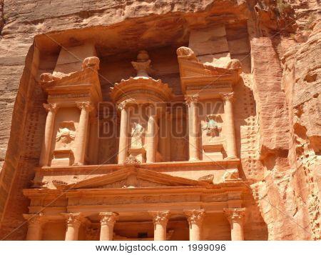 Treasury, Al-Khazneh, Facade Close Up, Petra, Jordan