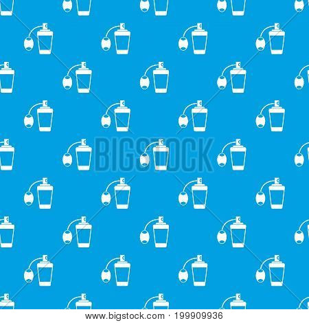 Retro perfume pattern repeat seamless in blue color for any design. Vector geometric illustration