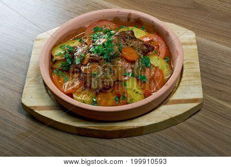 Chanakhi Traditional Georgian Dish
