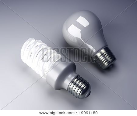 Light Bulbs - Old And New.