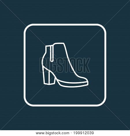 Premium Quality Isolated Heels Element In Trendy Style.  Female Boots Outline Symbol.