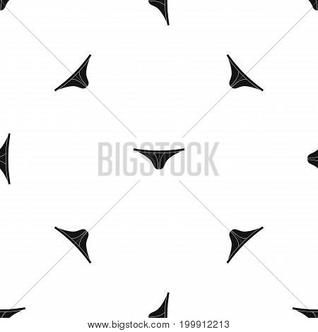 Thongs pattern repeat seamless in black color for any design. Vector geometric illustration