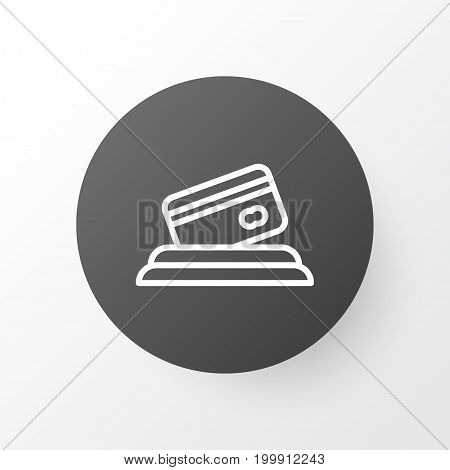 Premium Quality Isolated Credit Card Element In Trendy Style.  Card Payment Icon Symbol.