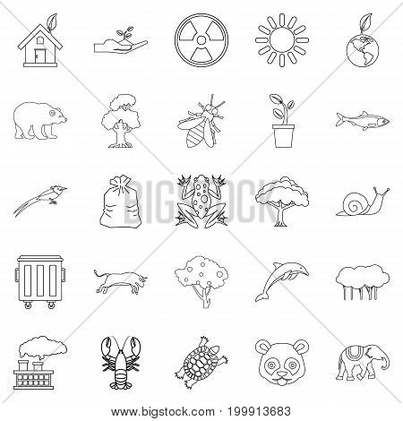 Sanctuary icons set. Outline set of 25 sanctuary vector icons for web isolated on white background
