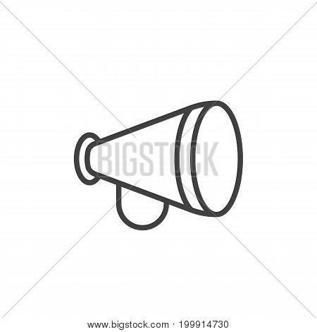 Advertising, announcement, bullhorn line icon, outline vector sign, linear style pictogram isolated on white. Symbol, logo illustration. Editable stroke. Pixel perfect