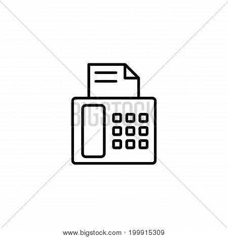 Fax Machine Icon On White Background
