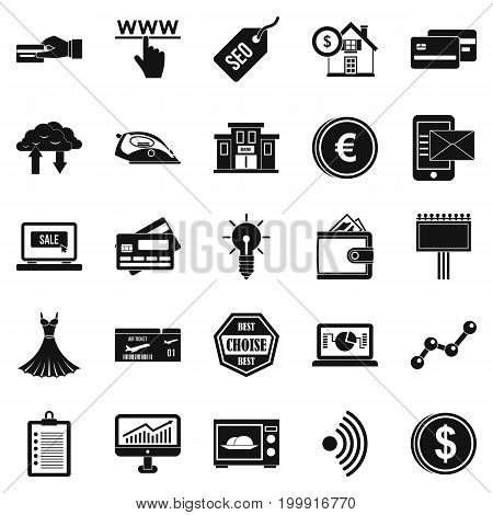 Promotion icons set. Simple set of 25 promotion vector icons for web isolated on white background